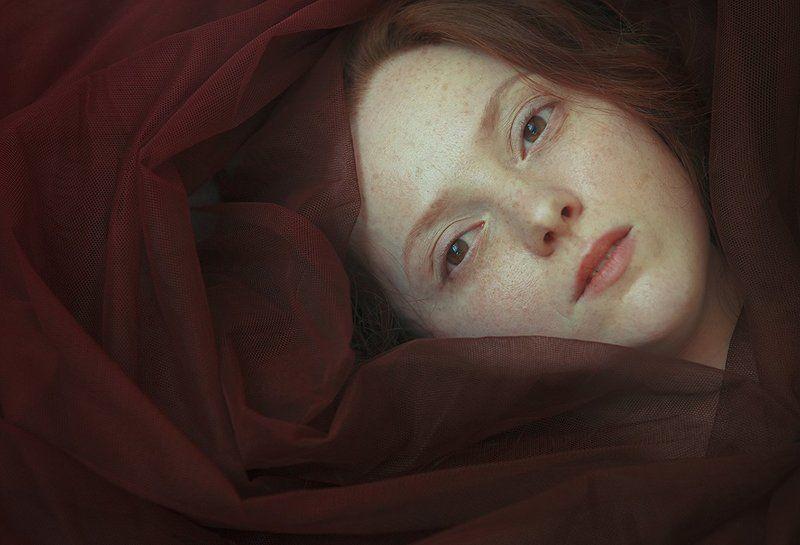 цветок, девушка,вуаль,рыжая,фотограф Павлодар Цветокphoto preview