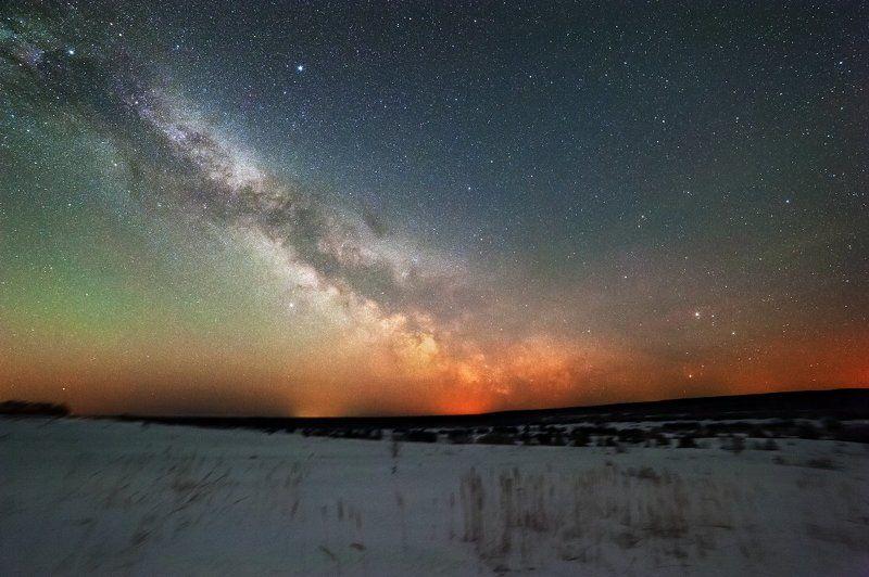 2015, альтаир, антарес, вега, денеб, космос, млечный путь, сатурн, скорпион Млечный путь в Костромеphoto preview