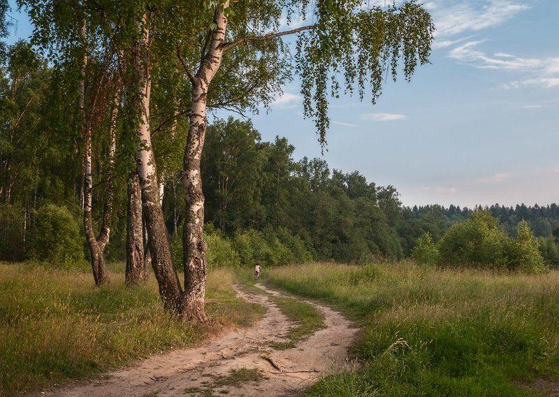 Девушка, Дорога, Лето Летними дорогамиphoto preview