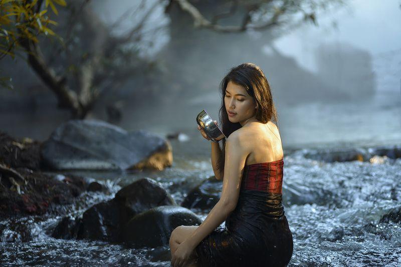 Asia, Asian, Beautiful, Culture, Fashion, Girl, River, Women Girl in lovephoto preview