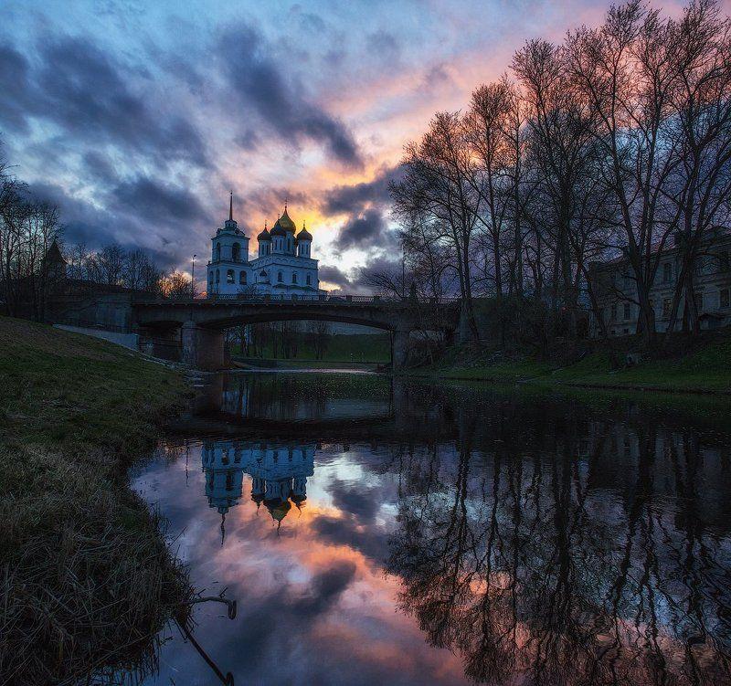 Псков, закат закатная...photo preview