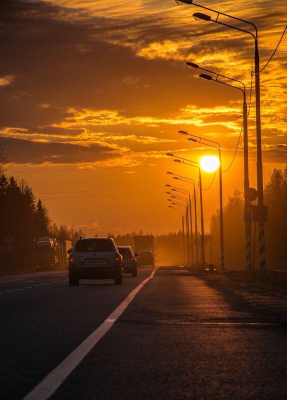 Закат на пути к Великому Новгороду.photo preview