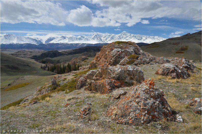 Горный алтай, Курайская степь, Северо-чуйский хребет Курайские скалыphoto preview