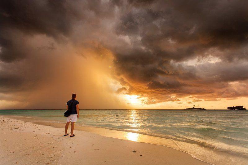 мальдивы, острова, океан, Сезон Дождейphoto preview