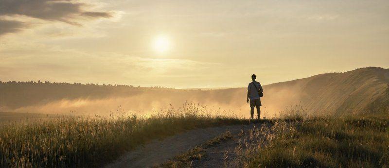 утро, солнце, туман, силуэт, Старый Орхей Встречая новый деньphoto preview