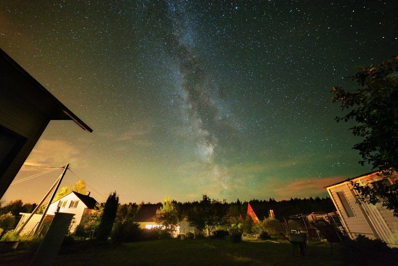 Космос, Млечный путь, Спасс Косицы, Верея Мой дом в летнюю ночьphoto preview