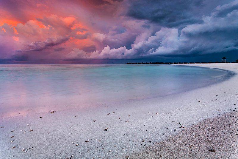 мальдивы, закат, океан Тихий Заливphoto preview