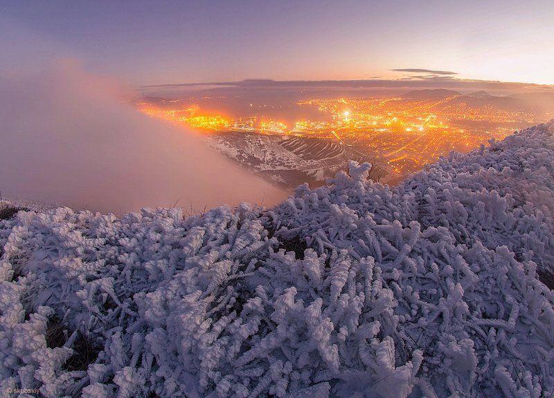 зима, Новороссийск Возникновение боры. photo preview