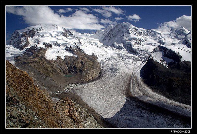 switzerland, альпы, леднк, горнер, горы, букет, облака, paradox Поздравление с видом на Монте Розуphoto preview