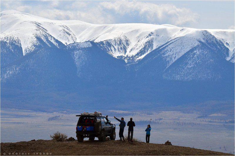 Алтай, Горный Алтай, Курайская степь Съёмка на точкеphoto preview