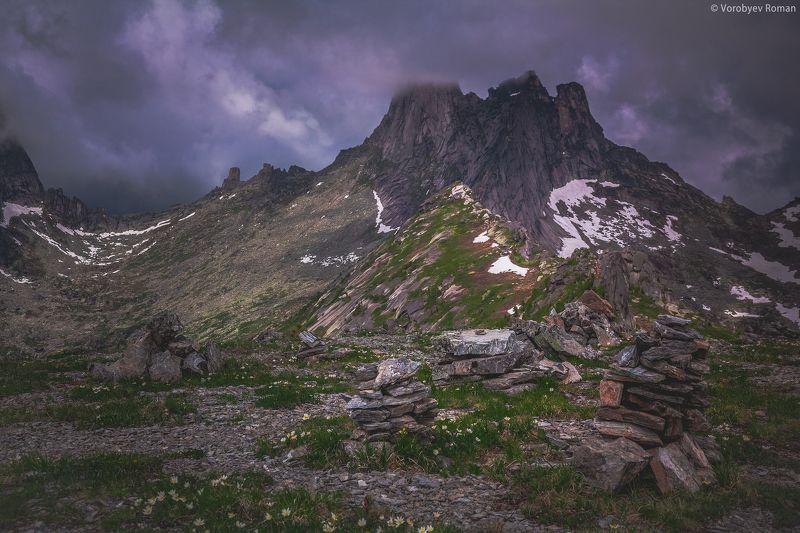 Ергаки, Небо, Непогода, Пейзаж, Пик Звездный Эреборphoto preview