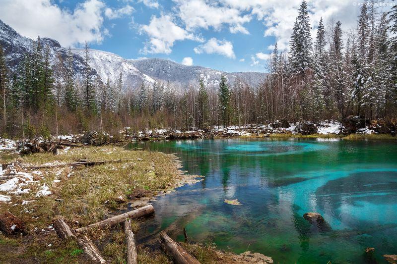 алтай, весна, горное озеро, горный алтай, май, озеро, пейзаж , горы , Гейзерное озероphoto preview