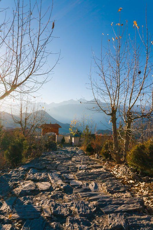 Закат, Монастырь, Непал Муктинатх, Путешевствие Небесные горыphoto preview