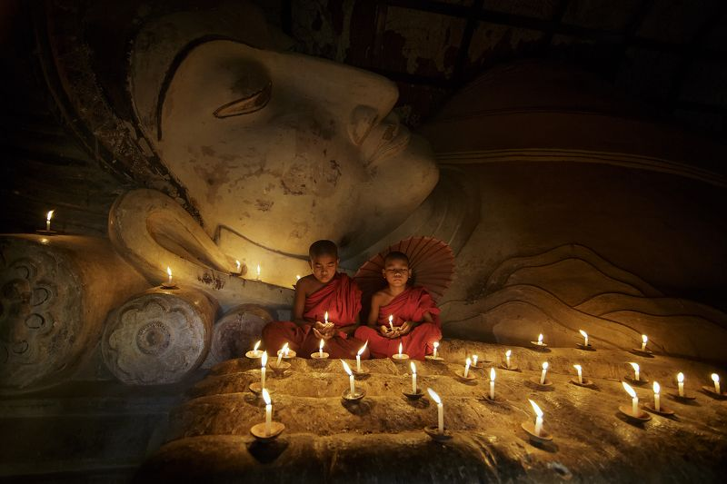 Asian, Bhudalist.bhudda, Bhudda, Monk, Myanmar The little monkphoto preview