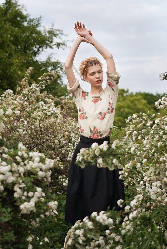 портрет, девушка, лето, цветы, portrait, girl, summer, flowers, beauty, blonde Летняя меланхолияphoto preview