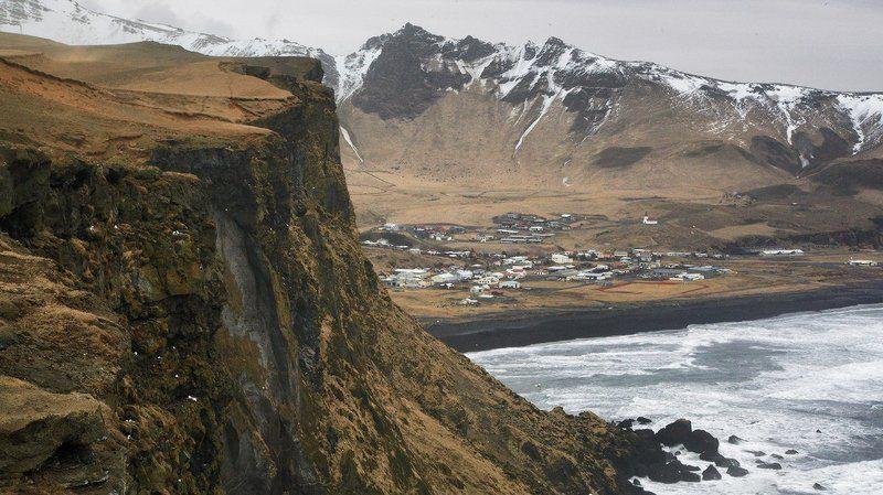 Исландия город Вик Vik мыс скалы Исландия. Вик (Vik).photo preview