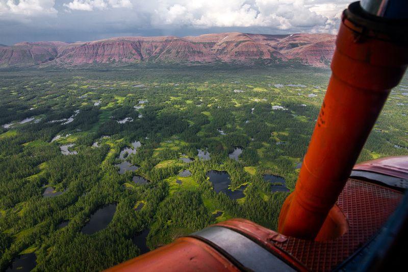 горы Хараела, Таймыр, плато Путорана,лето, вертолет горы Хараелахphoto preview