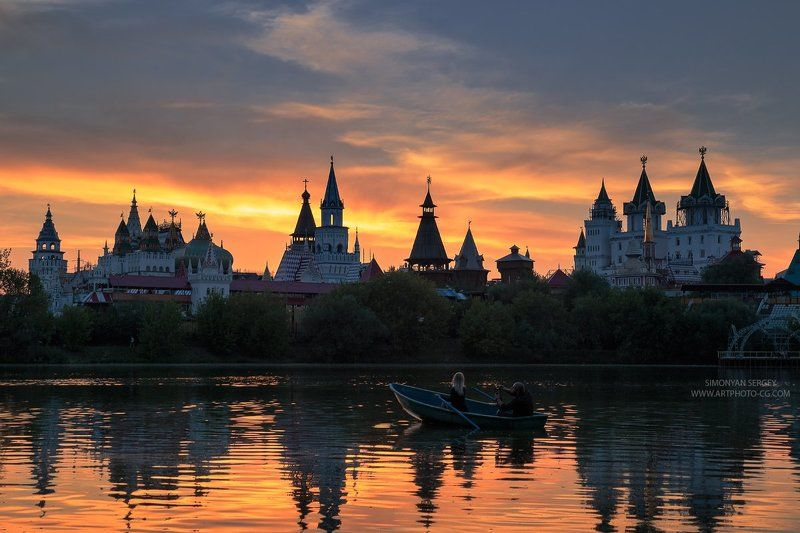 Закат, Измайлово, Кремль, Москва, Парк, Пруд ***photo preview