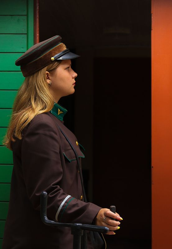 Train girl.photo preview