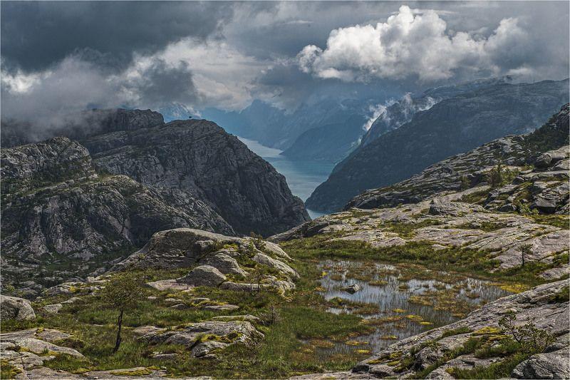 norway, норвегия, fjord, фьорд [lysefjorden]photo preview