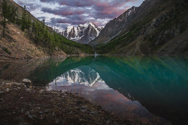 Алтай,Шавлинское озеро,вечер, лето,Россия Алтайская сказкаphoto preview