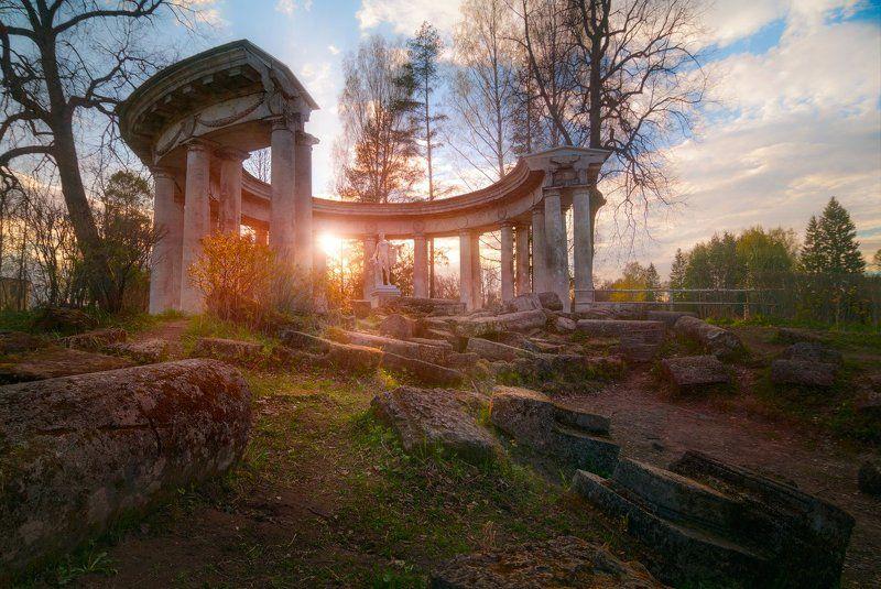 закат, солце, весна, павловск, парк, аполлон Солнце Аполлонаphoto preview