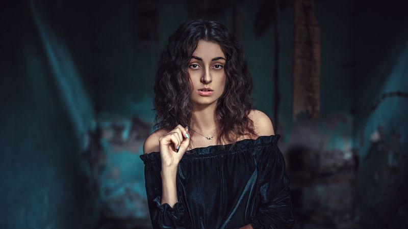 Cinematic, Colormood, Portrait, Teal Alone in the roomphoto preview