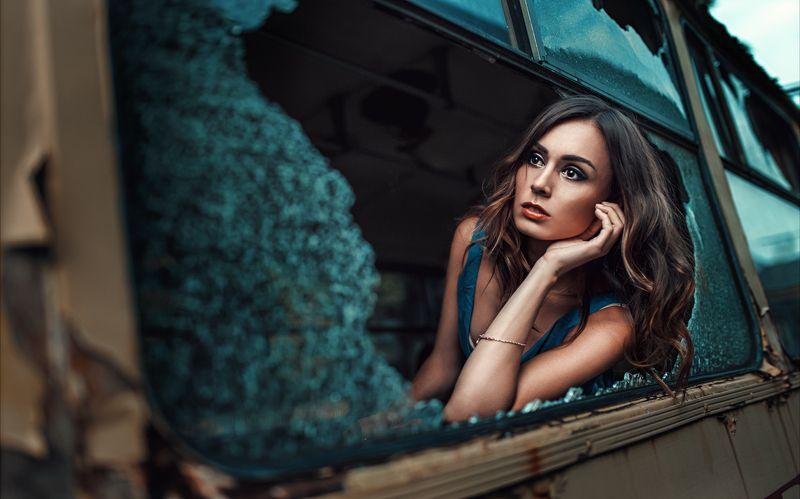 Cinematic, Color, Mood, Portrait, Teal Broken windowphoto preview