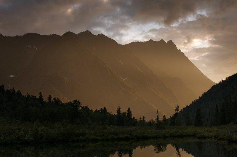 горы, деревья, красиво, лес, лето, мистика,закат, россия, саяны, сибирь, тайга, туризм, утро Саянские мотивыphoto preview