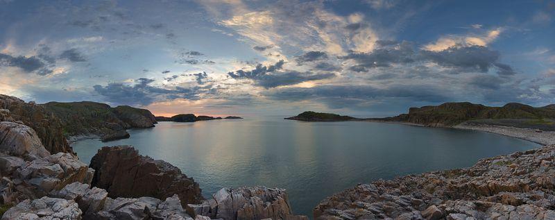 Кольский полуостров, закат, Баренцево море Deceptive quietphoto preview