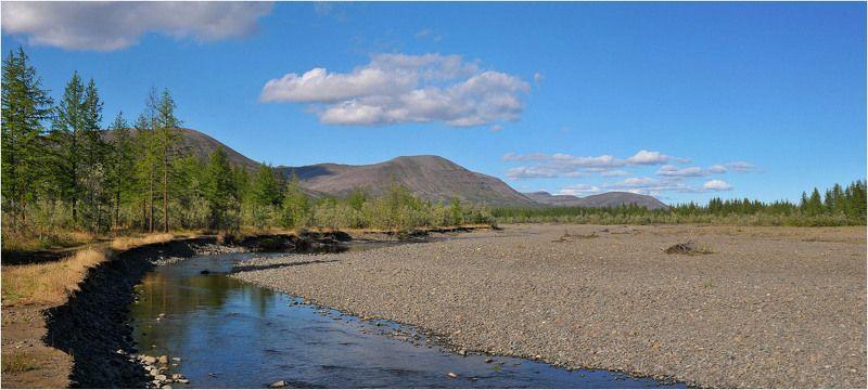 Таймыр,лето,река Почти высохшее русло рекиphoto preview