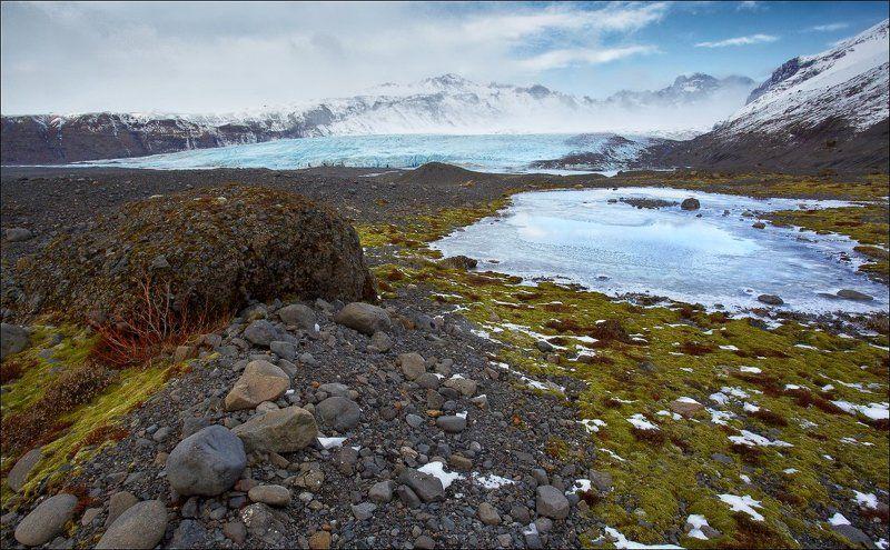 Исландия ледник зыбучий песок Исландия. На подходе к леднику.photo preview
