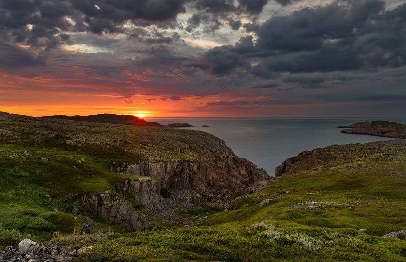 кольский ролуостров, баренцево море, закат, дальние зеленцы Before Sunsetphoto preview