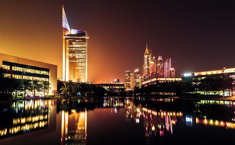 Architecture, City, Color, Dubai, Landscape, Night, Nikon, Uae Internet Cityphoto preview