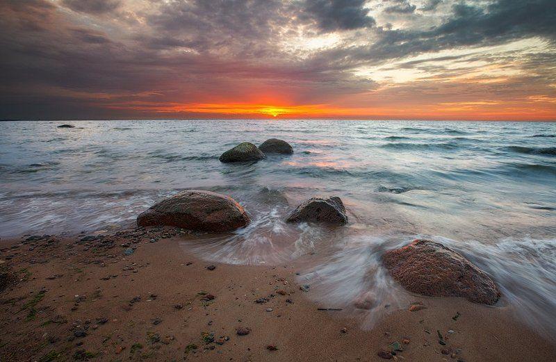 Балтийское море, Закат, Ключенков, Море, Пейзаж, Эстония Провожая деньphoto preview