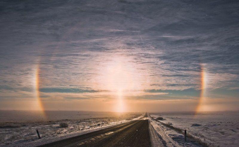солнце, гало Явление галоphoto preview