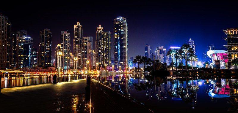 Architecture, City, Color, Dubai, Landscape, Light, Night, Nikon, Uae Mirrorphoto preview
