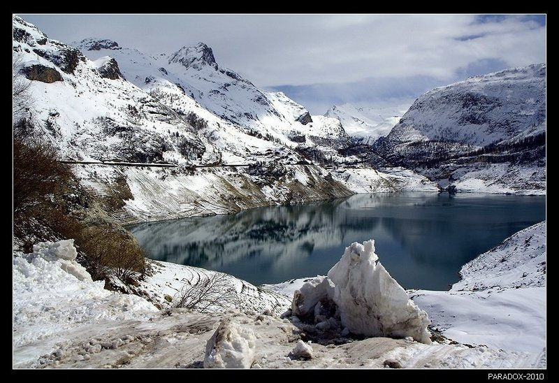 альпы, озеро, шевриль, весна, снег, paradox Весна на озере дю Шеврильphoto preview