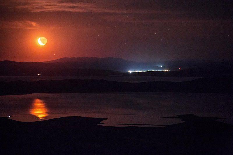 хакасия, абакан, ночь, палатка, пейзаж, млечный путь, звезды, месяц, луна, ночь, вечер, красивый, темный, небо Ночь в Хакасииphoto preview