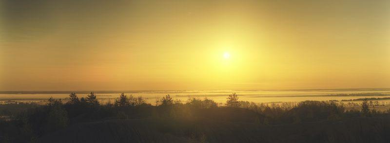 пейзаж, рассвет, восход, солнце, природа, свет, туман Sunrisephoto preview