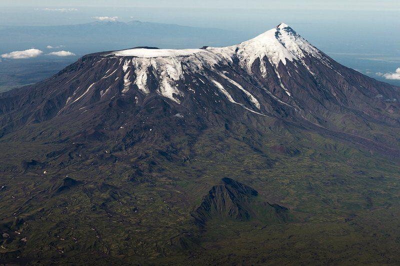 Камчатка, вулкан, Толбачик, вертолет, вершина,лето Плоский Толбачикphoto preview