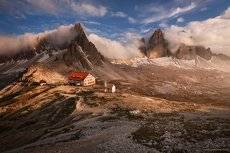 Evening by the Tre Cime