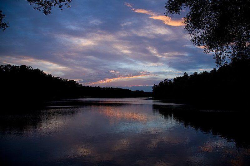кратово, озеро, закат Закат над кратовским озером...photo preview