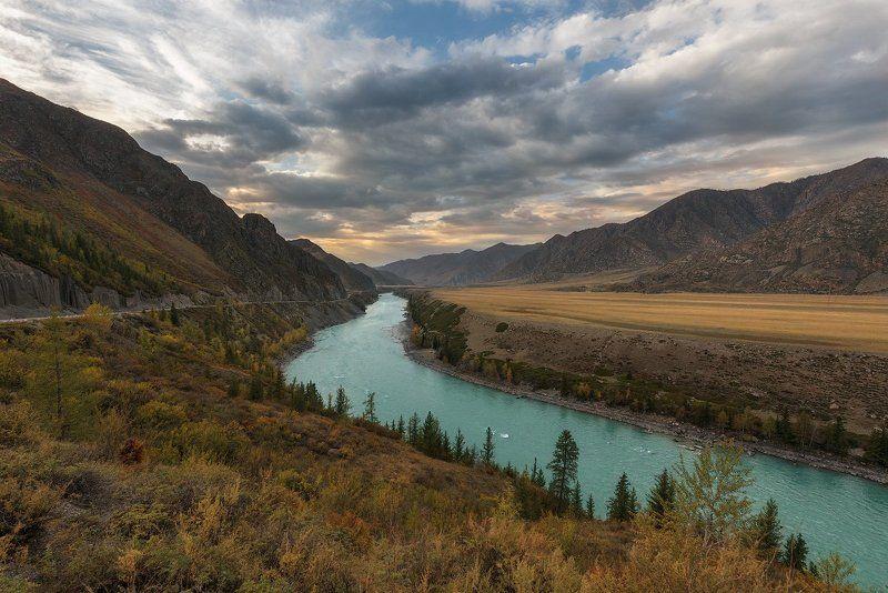 Алтай, Горный Алтай, Катунь, Осень Бирюзовая Катуньphoto preview