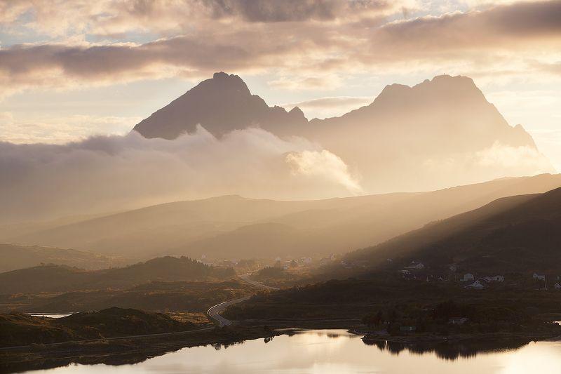 Norway, Закат, Лофотены, Норвегия Вечер на Лофотенахphoto preview