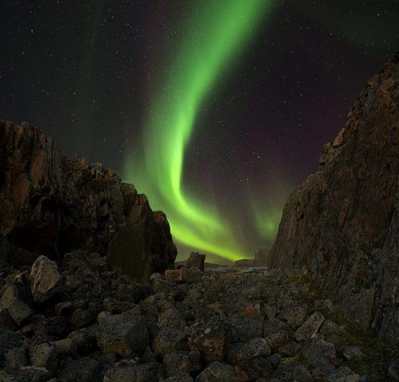 aurora borealis, дальние зеленцы Aurora Borealisphoto preview