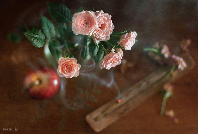 Rosas e inciensophoto preview