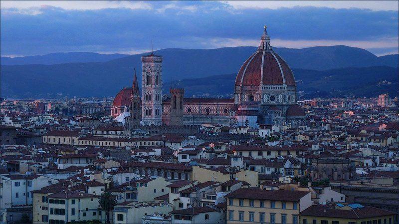 вечер, италия, флоренция Ещё один вечер на реке Арноphoto preview