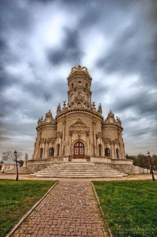 храм, церковь, подольск, осень Знаменская церковьphoto preview