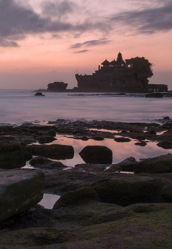 храм, бали, остров, экзотика, загадка, закат, рассвет Танах Лотphoto preview